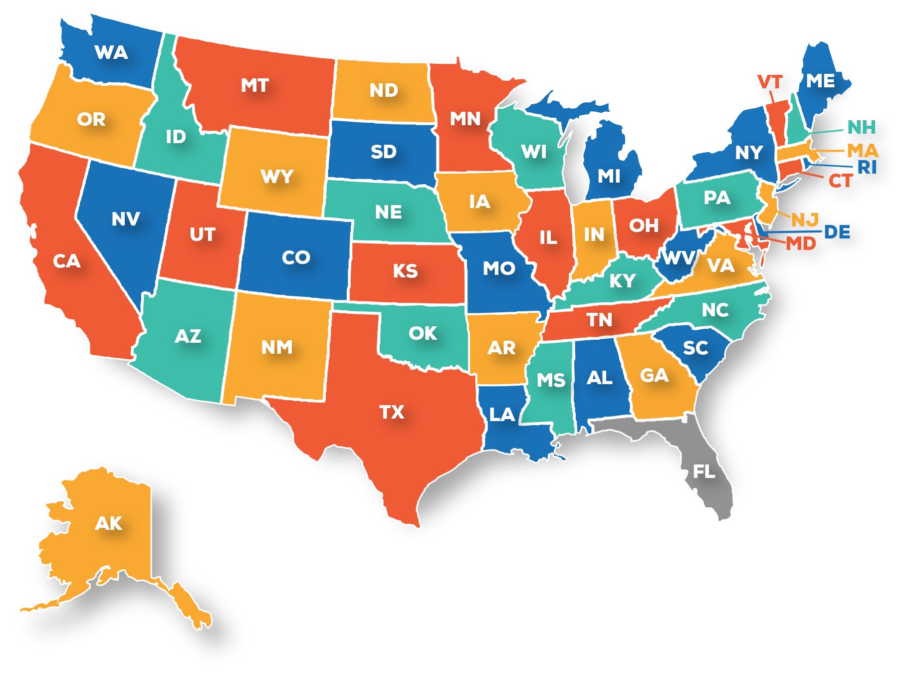State map — sprinkler fitter local training